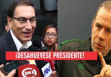 """Belmont. """"El dinero que Vizcarra paga a los grupos mediáticos es mayor al canon de Tía María"""". VIDEO"""