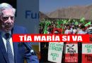 Para Vargas Llosa Tía maría si va, y cuestiona la oposición al proyecto minero. VIDEO