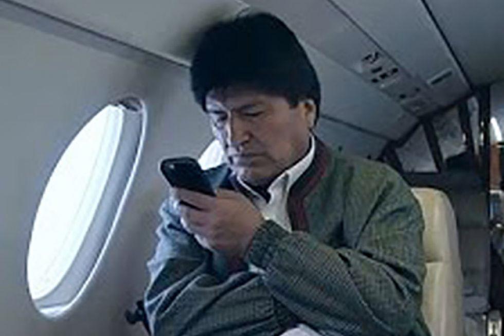 Evo Morales llegó a Argentina