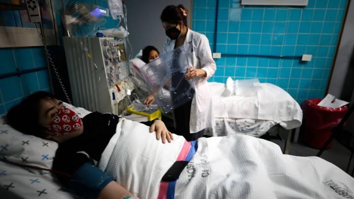 Contagiados en hospitales de Argentina
